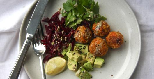 food for brains recipe sweet potato and quinoa falafels