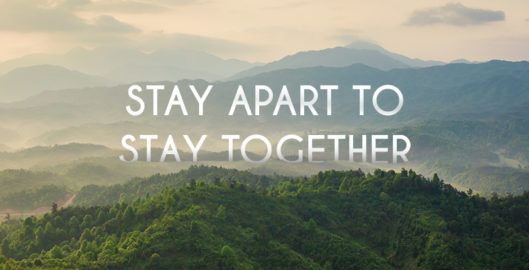 Coronavirus advice - stay apart to stay together on mountaintops 2