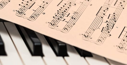 classical music on a piano